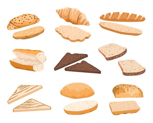 Brood broodjes illustratie Premium Vector