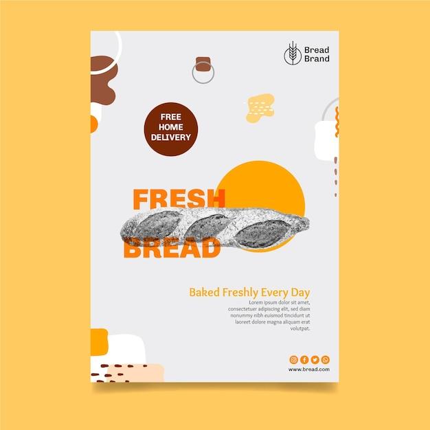 Brood poster sjabloon Gratis Vector