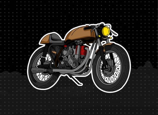 Browny motocycle-illustratie Premium Vector