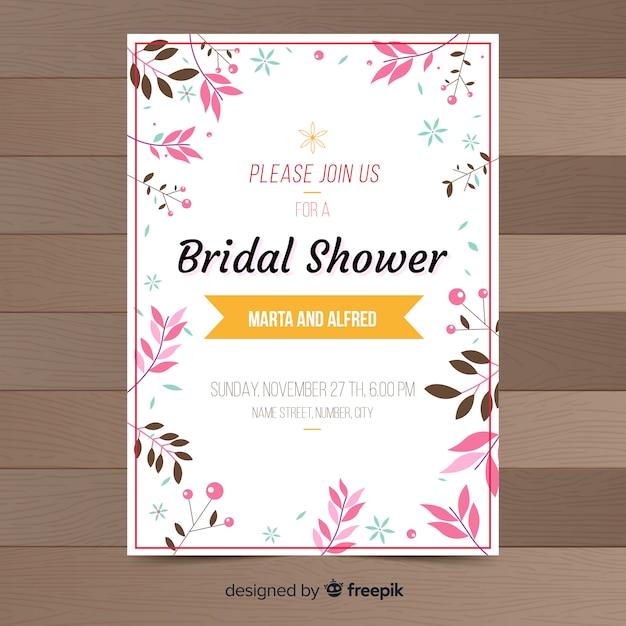 Bruids douche uitnodiging Gratis Vector