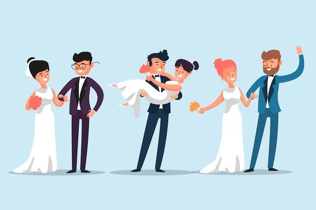 Bruidsparen Gratis Vector