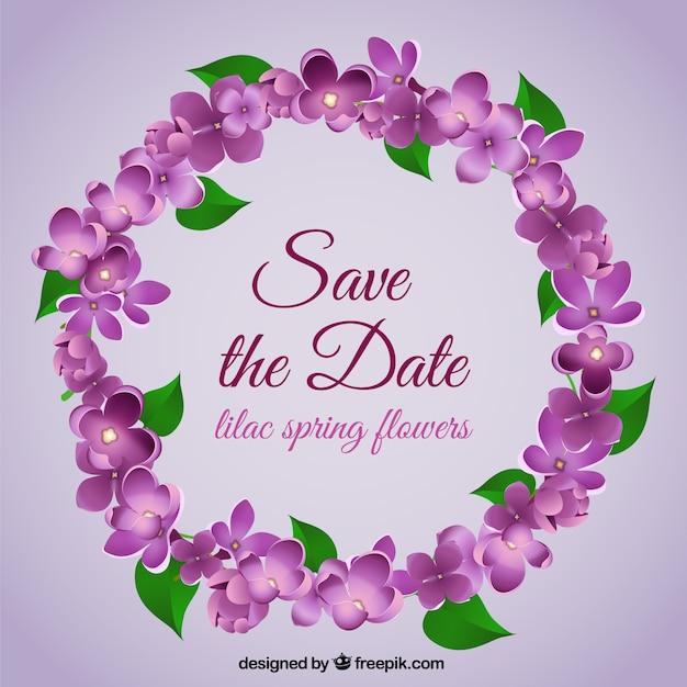 Bruiloft bloemen krans Gratis Vector