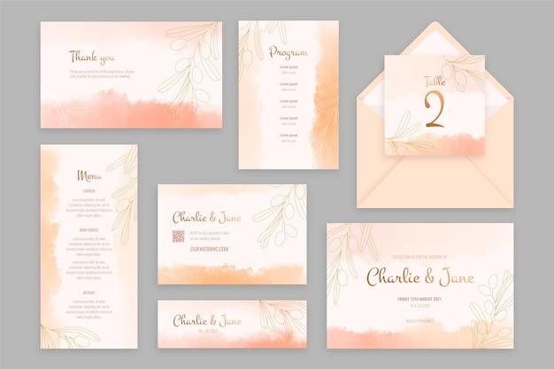 Bruiloft briefpapier Gratis Vector
