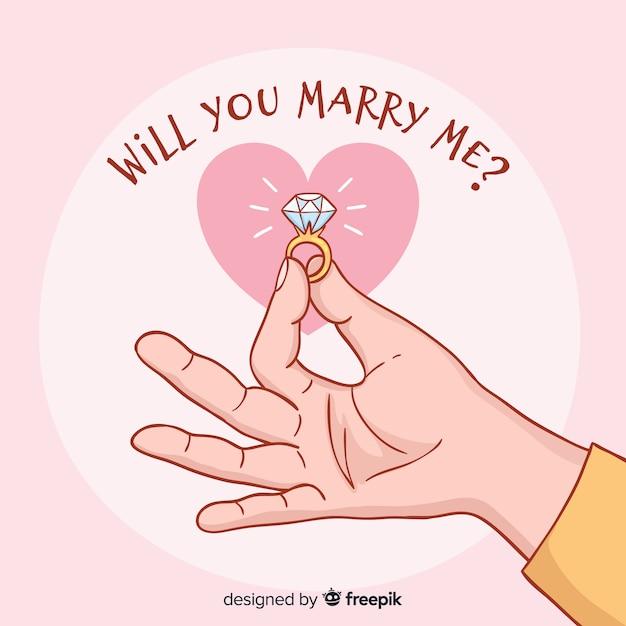 Bruiloft en liefde concept Gratis Vector