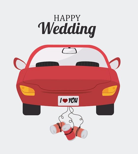 Bruiloft ontwerp Premium Vector