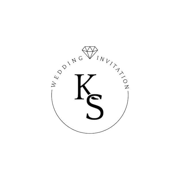 Bruiloft uitnodiging badge ontwerp vector Gratis Vector