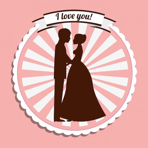 Bruiloft uitnodiging lavel Gratis Vector