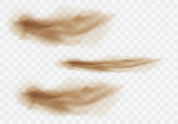 Bruine stoffige wolken Gratis Vector