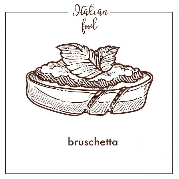 Bruschetta-snack Premium Vector