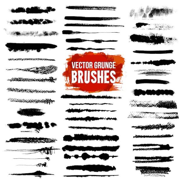 Brush style illustrator set Gratis Vector