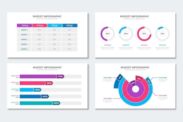 Budget infographic collectie Gratis Vector