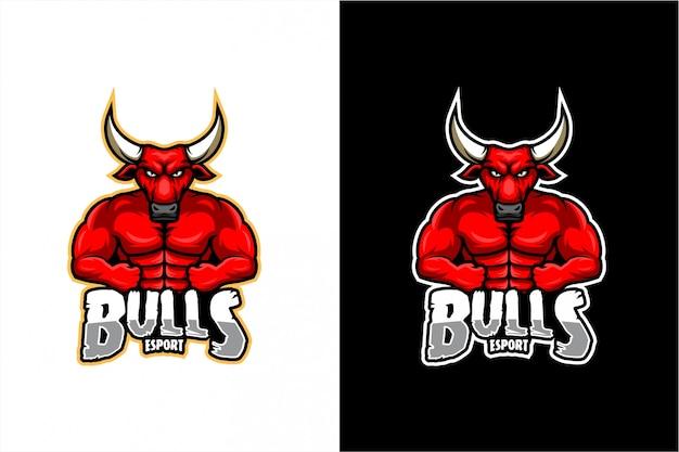 Bull mascotte Premium Vector
