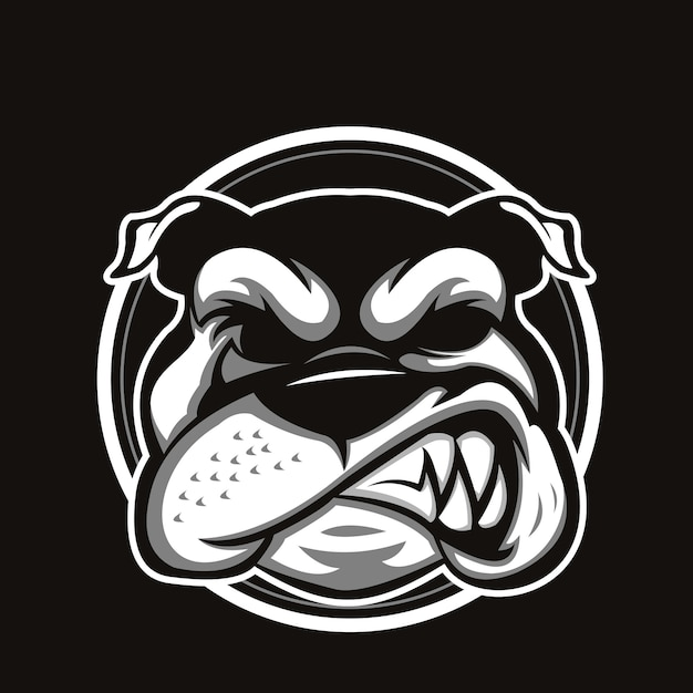 Bulldog hoofd Premium Vector