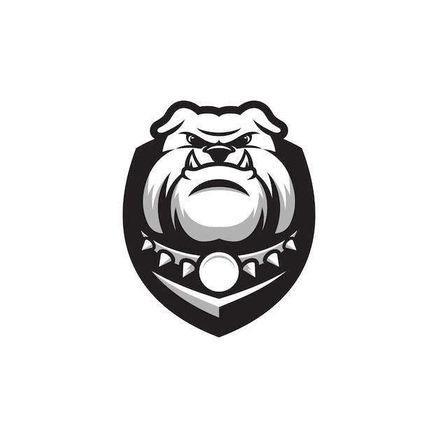 Bulldog logo ontwerp Premium Vector