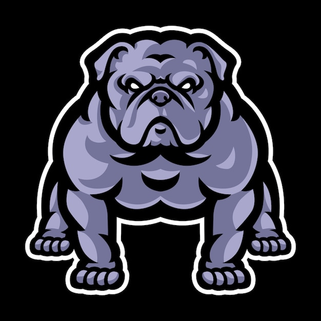 Bulldog mascotte logo sjabloon Premium Vector