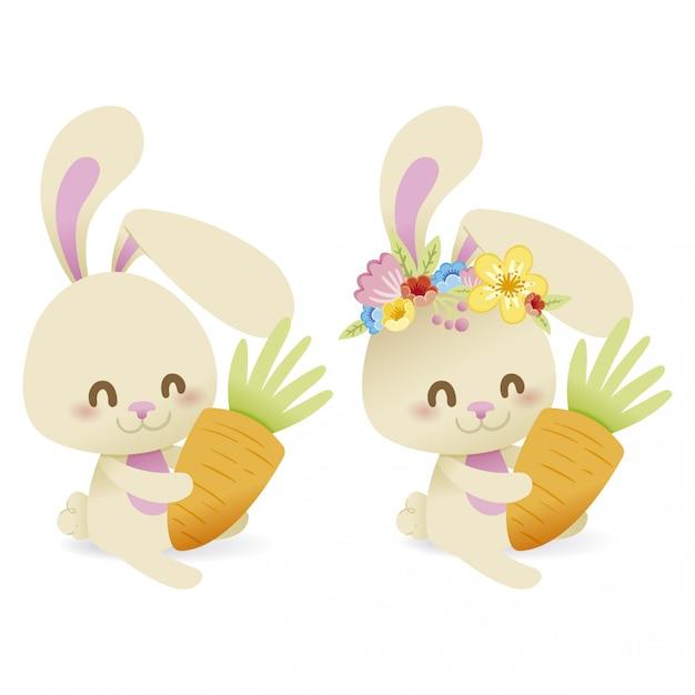 Bunny earter Premium Vector