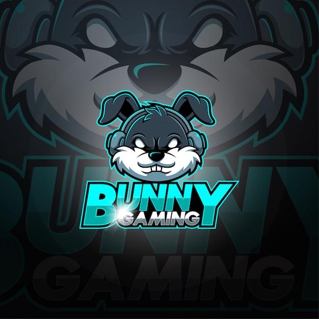 Bunny gaming esport mascotte logo Premium Vector