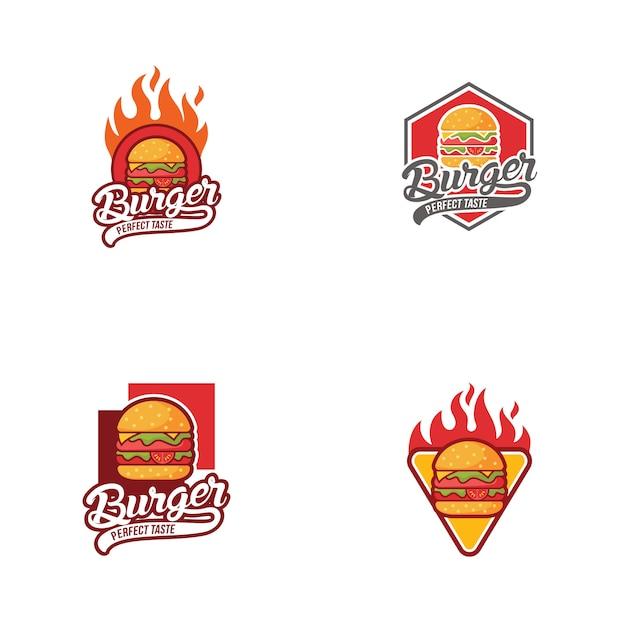 Burger logo-collectie Premium Vector