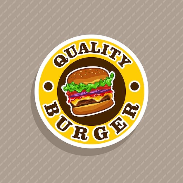 Burger logo vector Premium Vector