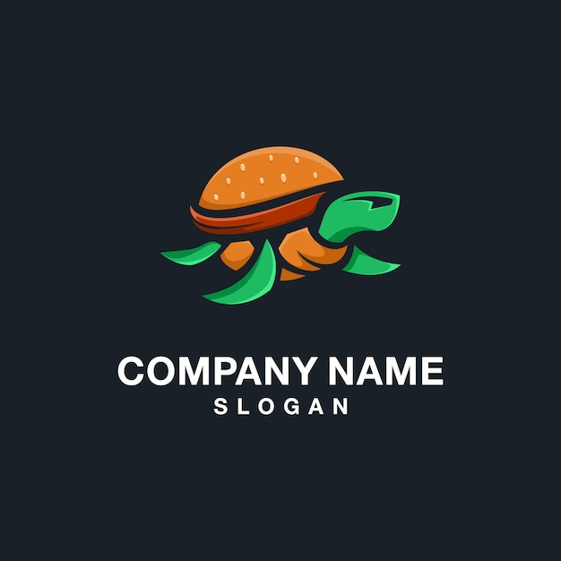 Burger turtle-logo Premium Vector