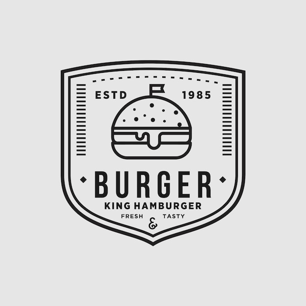 Burger vintage winkel Premium Vector