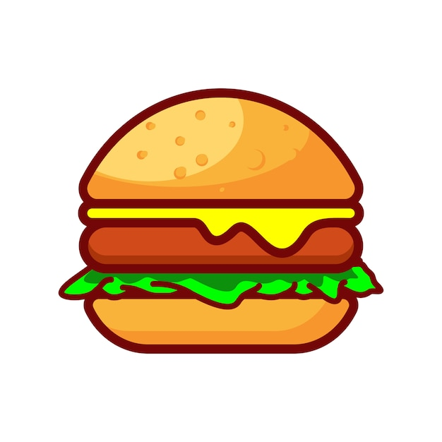 Burger Premium Vector