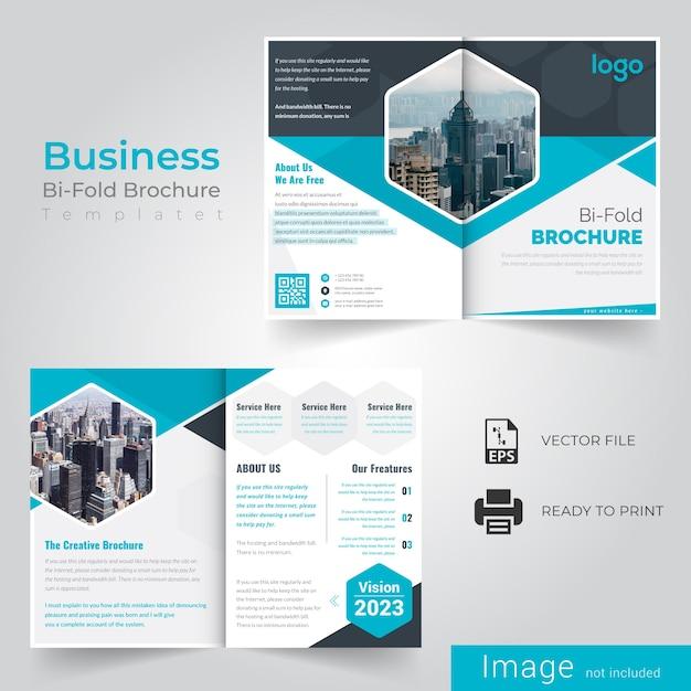 Business bi vouw brochure Premium Vector