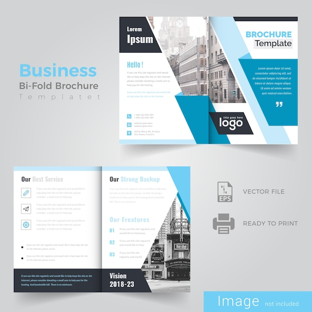 Business bi vouw brochureontwerp Premium Vector