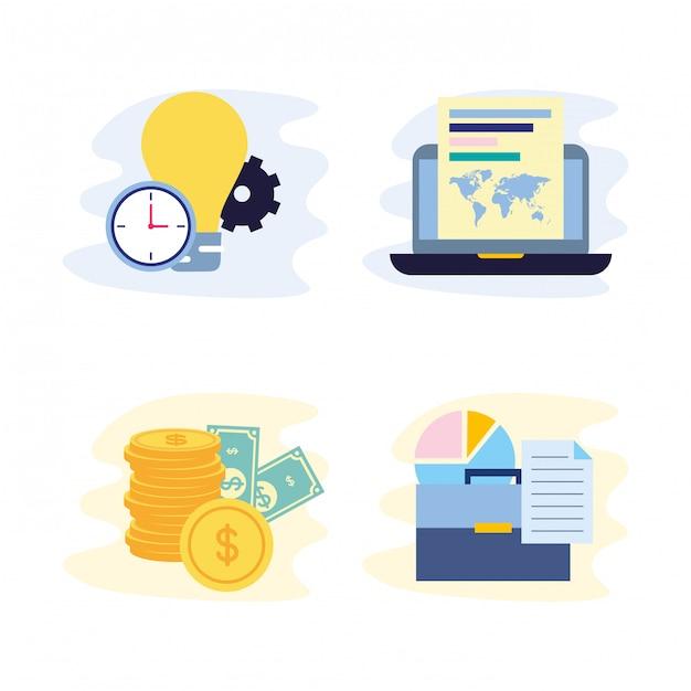 Business concept collectie Gratis Vector