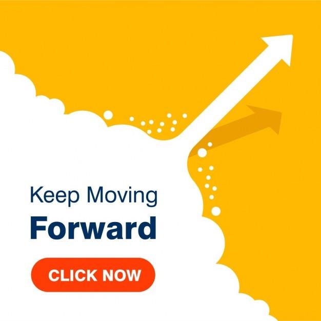 Business concept keep moving forward succes achtergrond Gratis Vector