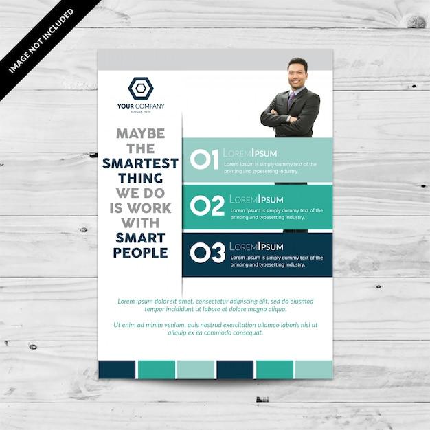 Business flyer infographic design Gratis Vector