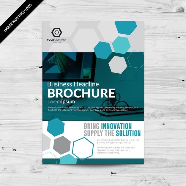 Business flyer met hexagonen Gratis Vector