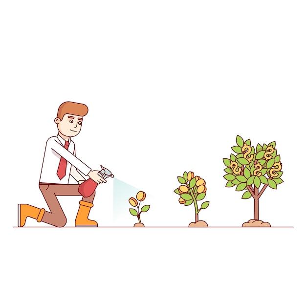 Business groei en ondernemerschap concept Gratis Vector