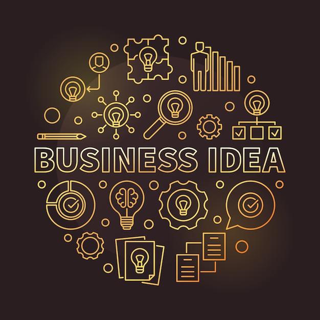 Business idee Premium Vector