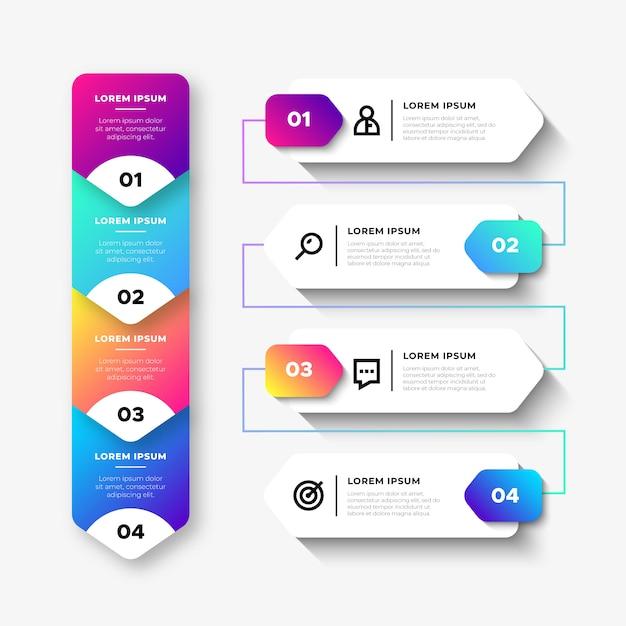 Business infographic-elementen Gratis Vector