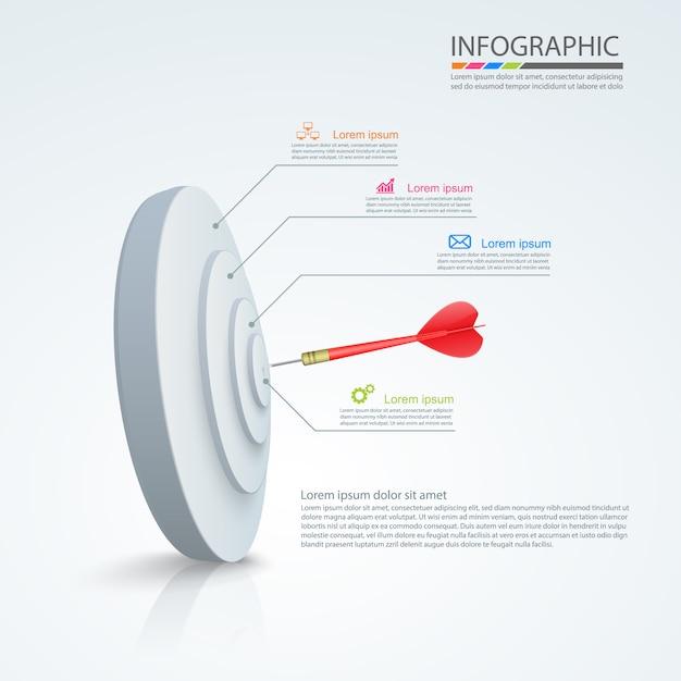 Business infographic ontwerp Premium Vector