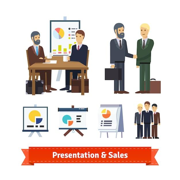 Business job interview, brainstorming Gratis Vector