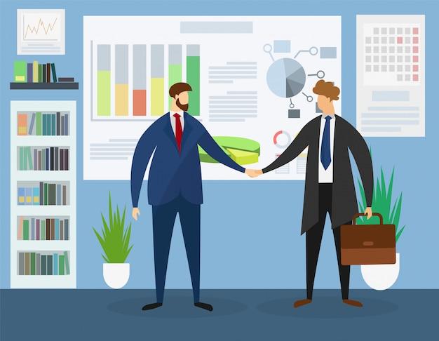 Business leaders meeting in office. samenwerking. Premium Vector