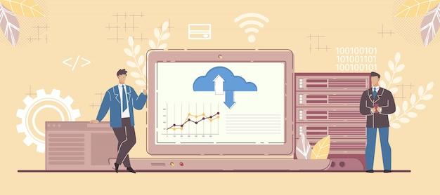 Business partner en saas platform flexibiliteit Premium Vector