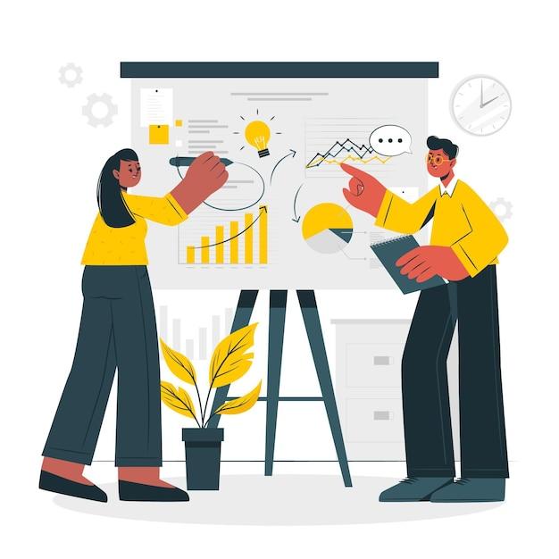 Business plan concept illustratie Gratis Vector