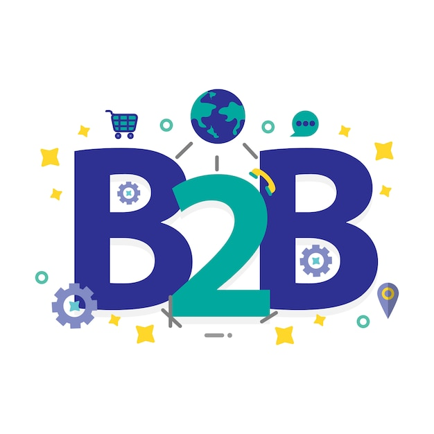 Business to business achtergrond Premium Vector
