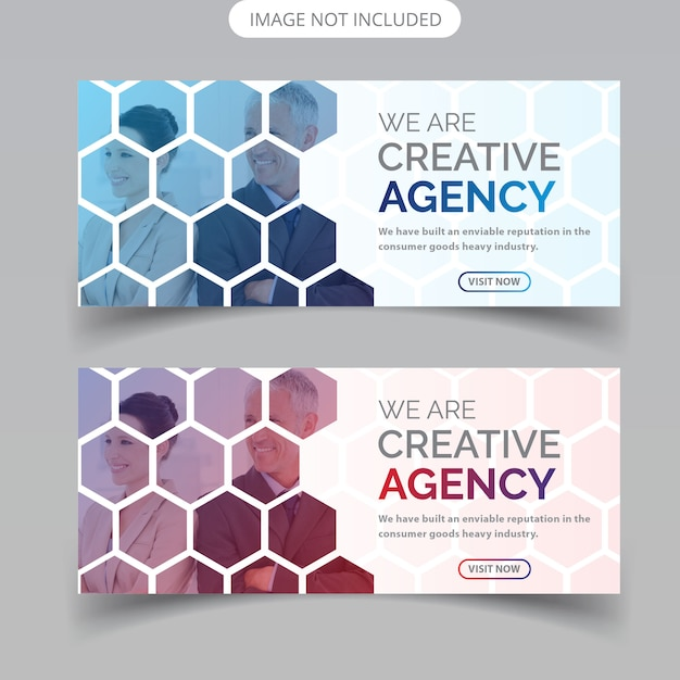 Business web-bannerontwerp Premium Vector