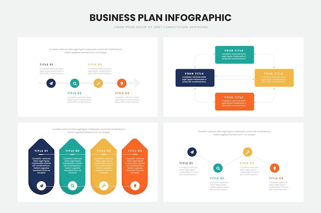 Businessplan infographic ontwerp Gratis Vector