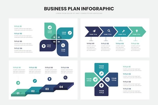 Businessplan infographic sjabloon Gratis Vector