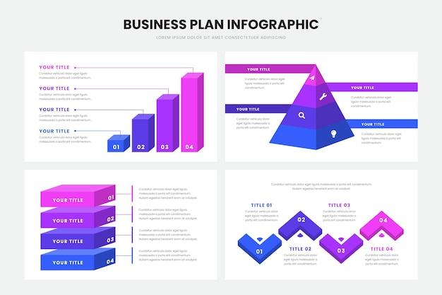 Businessplan infographic stijl Gratis Vector