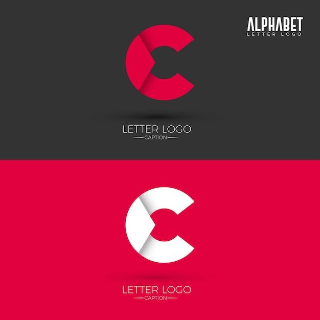 C letter origami style-logo Premium Vector