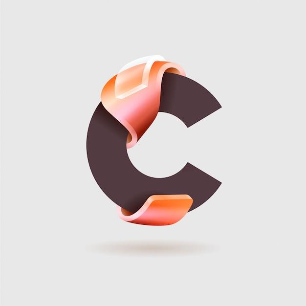 C-logo Premium Vector