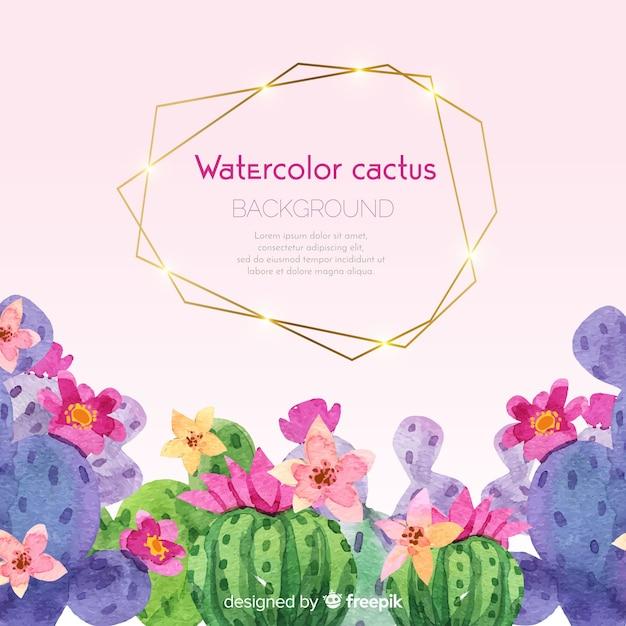 Cactus achtergrond Gratis Vector