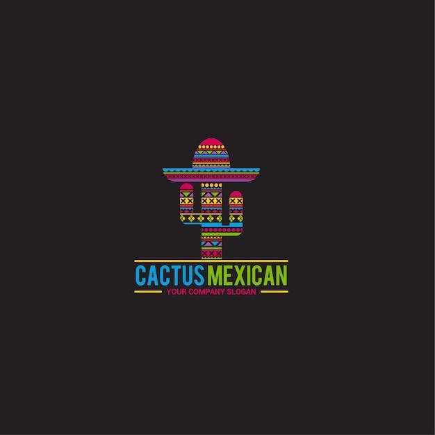 Cactus logo sjabloon Premium Vector