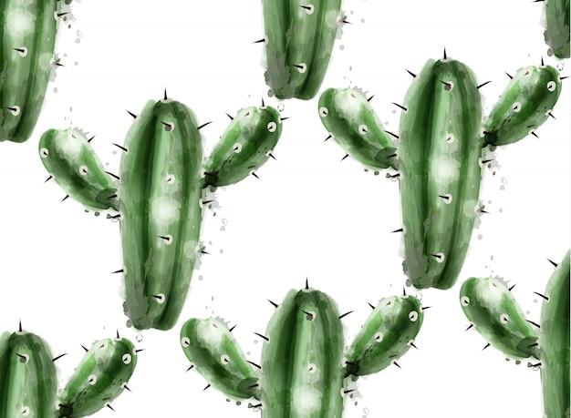 Cactus patroon achtergrond Premium Vector